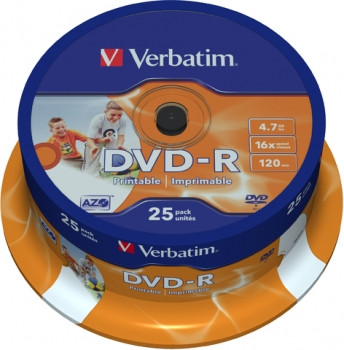 DVD-R Recordable 25ST Spindel